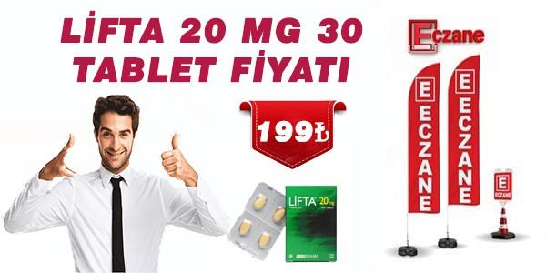 Lifta 20 mg tablet en ucuz fiyata 199 TL