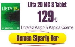 lifta 20 mg 8 tablet 129 TL